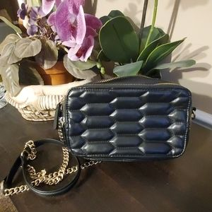 Zara Basic Quilted Crossbody Bag
